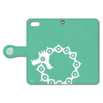 七つの大罪 iPhone5/5sスマホケース メリオダス紋章(緑) 手帳